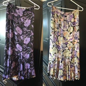 Dresses & Skirts - Sarah Arizona reversible long skirt purple black